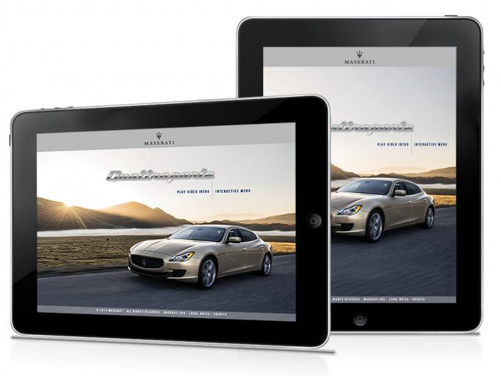 Maserati iPad App: Interactive e-brochure (World Luxury Award Winner)